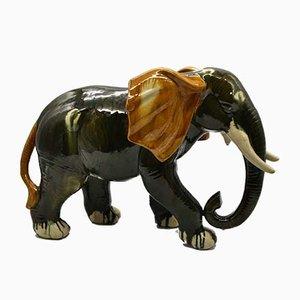 Bunter Elefant aus Keramik, 1960er