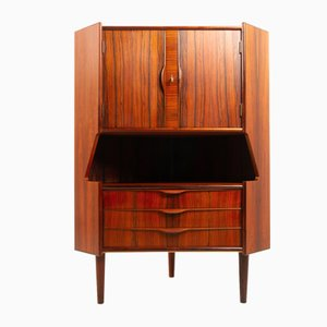 Vintage Danish Rosewood Corner Cabinet with Dry Bar, 1960s