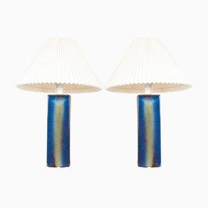 Dänische Vintage Keramik Tischlampen von Søholm, 1960er, 2er Set