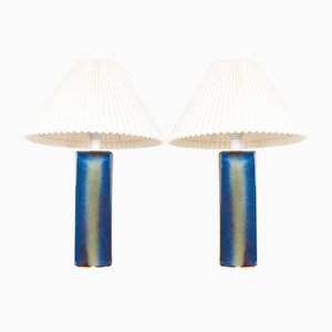 Vintage Danish Ceramic Table Lamps from Søholm, 1960s, Set of 2