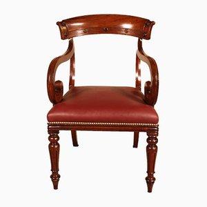 Antique Mahogany Bureau Chair, Early 1800s