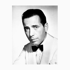 Impresión Humphrey Bogart Archival Pigment enmarcada en negro