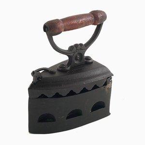 Antique Italian Cast Iron Coal Iron, 1900s