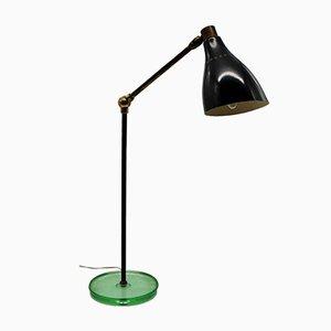 Lampe de Bureau avec Socle en Verre, 1950s