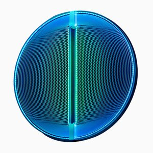 Thanks for the Planets Blue Green Light Sculpture by Arnout Meijer