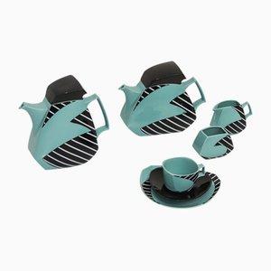 Servicio de café y té de cerámica de Dorothy Hafner para Rosenthal, años 80. Juego de 26