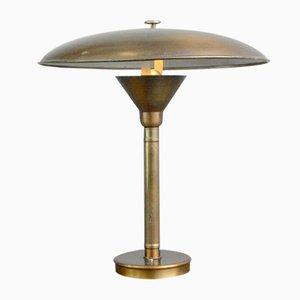 Large Danish Copper Table Lamp, 1930s