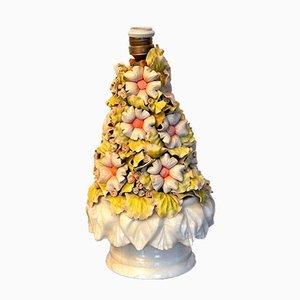 Lampe de Bureau Florale Manises, Espagne, 1970s