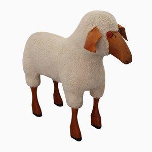 Schafe Skulptur aus Wolle von Hanns-peter Krafft für Meier, 1970er