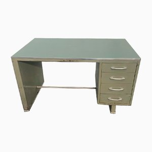 Painted Aluminium Desk with Laminate Top from Carlotti, 1950s