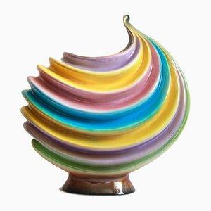 Garofano, Art Deco Ceramic Vase, Italy, 1940s