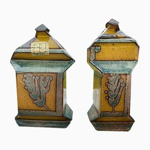 Cubist Pots by Pedro Borja, 1970s, Set of 2