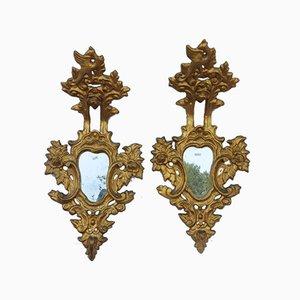 Antique Spanish Gold Leaf Mirrors, Set of 2