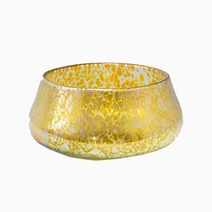 Antique Czech Mottled Glass Bowl, 1900s