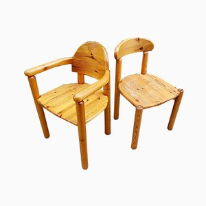 Pine Chairs by Rainer Daumiller for Hirtshals Sawmill, 1970s, Set of 2
