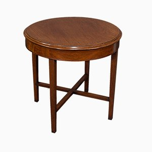 Victorian English Round Oak Coffee / Side / Lamp Table, Circa 1880