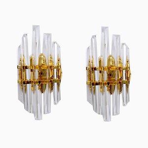 Italienische Wandlampen von Paolo Venini für Venini, 1970er, 2er Set