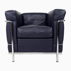 Club chair LC2 vintage di Pierre Jeanneret, Le Corbusier e Charlotte Perriand per Cassina