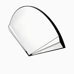 Vintage Wall Mirror in the Shape of a Handheld Fan