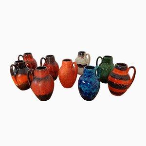 German Ceramic 414-16 Vases from Scheurich, 1960s, Set of 9