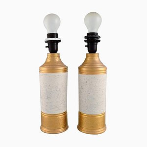 Table Lamps in Glazed Stoneware by Bitossi for Bergboms, Set of 2
