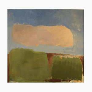 Stig Sundin, Svezia, Oil on Board, Modernist Landscape, Gotland