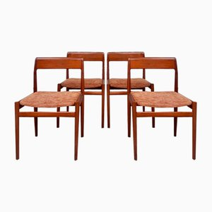 Mid-Century Danish Teak Dining Chairs from Dalescraft, Set of 4
