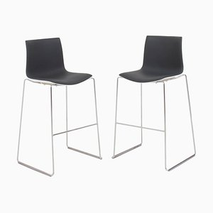 Aava Gray and White Bar Stools by Antti Kotilainen for Arper, Set of 2, 2013