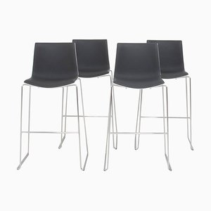 Aava Gray and White Bar Stools by Antti Kotilainen for Arper, Set of 4, 2013