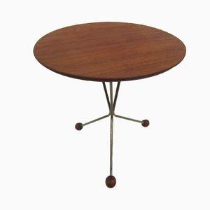 Table d'Appoint Vintage en Teck avec Trépied par Albert Larsson pour Alberts Tibro