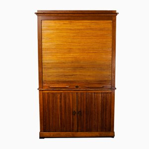 Large French Oak Atelier Cabinet, 1940s