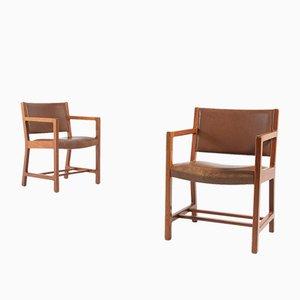 Armlehnstühle von Børge Mogensen für Soborg Mobelfabrik, 1960er, 2er Set