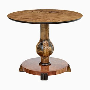 Skandinavischer Mid-Century Tisch aus Birke mit Intarsien