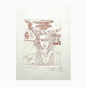 Salvador Dali, Henry Wadsworth Longfellow, handsignierte Radierung, 1967