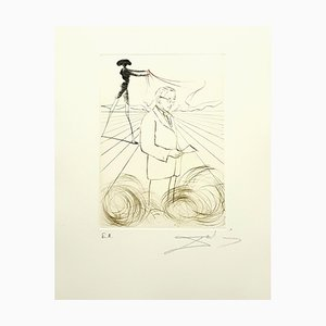Salvador Dali, Alexander Fleming, Hand Signed Engraving, 1970