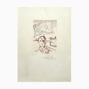 Salvador Dali, Moshe Dayan, Hand Signed Etching, 1968