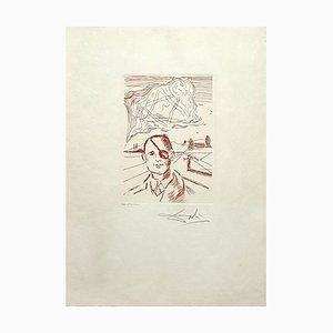 Salvador Dali, Moshe Dayan, handsignierte Radierung, 1968