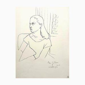 Jean Cocteau, Young Girl, Litografia, 1956
