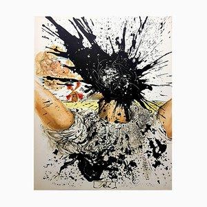 Salvador Dali, Exploding Head, Lithograph, 1957