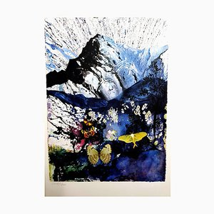 Salvador Dali, Alpes, Lithograph, 1969