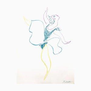 Pablo Picasso, Balletttänzerin, Lithographie, 1954