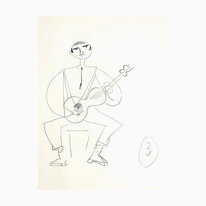 Jean Cocteau, Spanish Guitarist, Drawing, 1930s