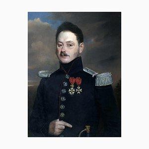 Henri Valton, Military Portrait, Oil Painting, 1850s