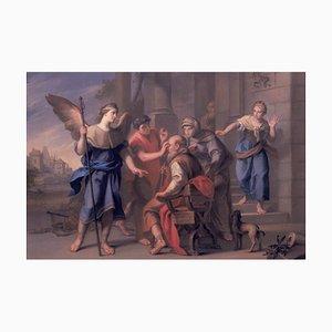 Photographie Antonio Rossi, Tobias Healing His Father's Cécité, Peinture à l'Huile, 1740s