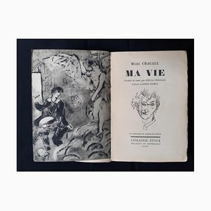 Marc Chagall, Ma Vie, Vintage Rare Book Illustrated by Marc Chagall, 1931