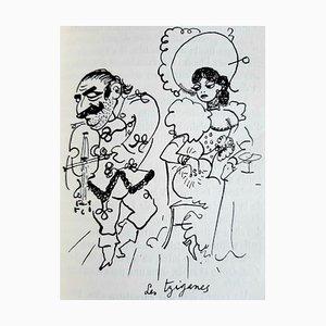 Jean Cocteau, Porträts-Souvenirs, Seltenes Vintage Buch von Jean Cocteau, 1935
