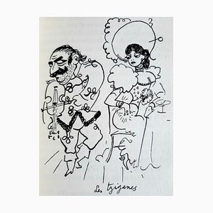 Jean Cocteau, Portraits-Souvenirs, Vintage Rare Book Illustrated by Jean Cocteau, 1935