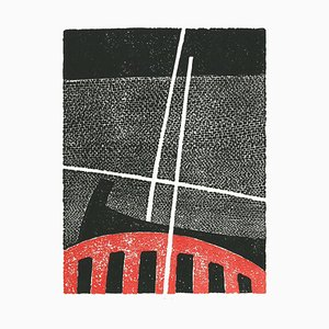 Luigi Spacal, Composition, Woodcut, 1970s