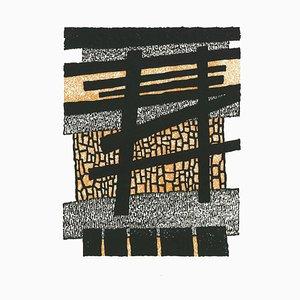 Luigi Spacal, Komposition, Holzschnitt, 1970er