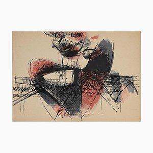 K. R. H. Sonderborg, Composition, Lithograph, 1955